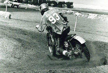 Gary Bailey on MX dirt bike course