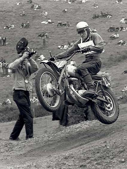 One of England's top riders, Dave Bickers, was a member of the country's dominating Motocross des Nations teams of the 50s.