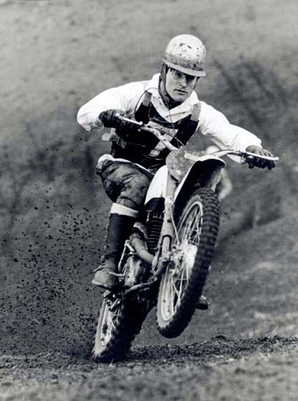 One of England's top riders, Dave Bickers, was a member of the country's dominating Motocross