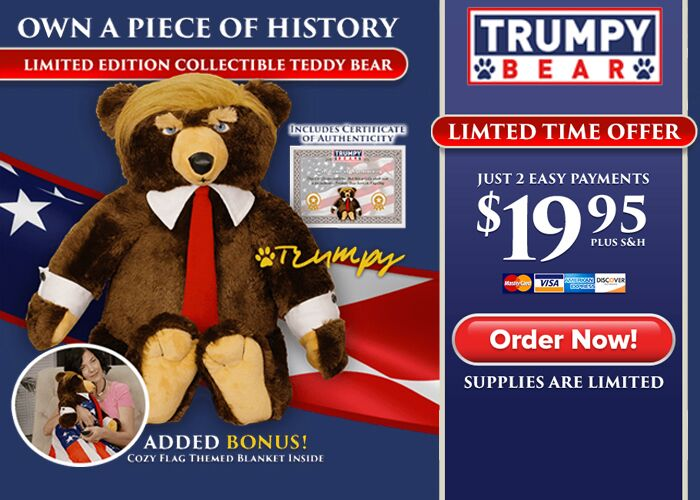This is a large banner ad for the trumpybear