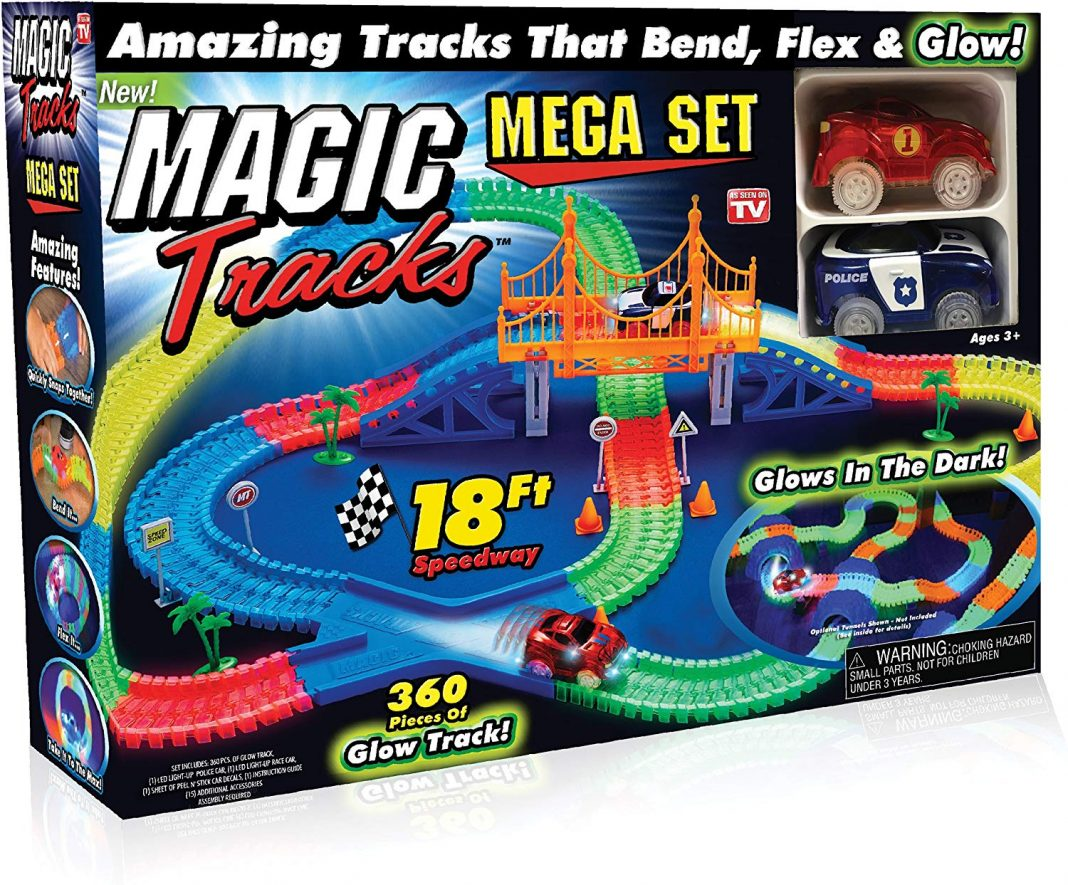 magic tracks mega police car set