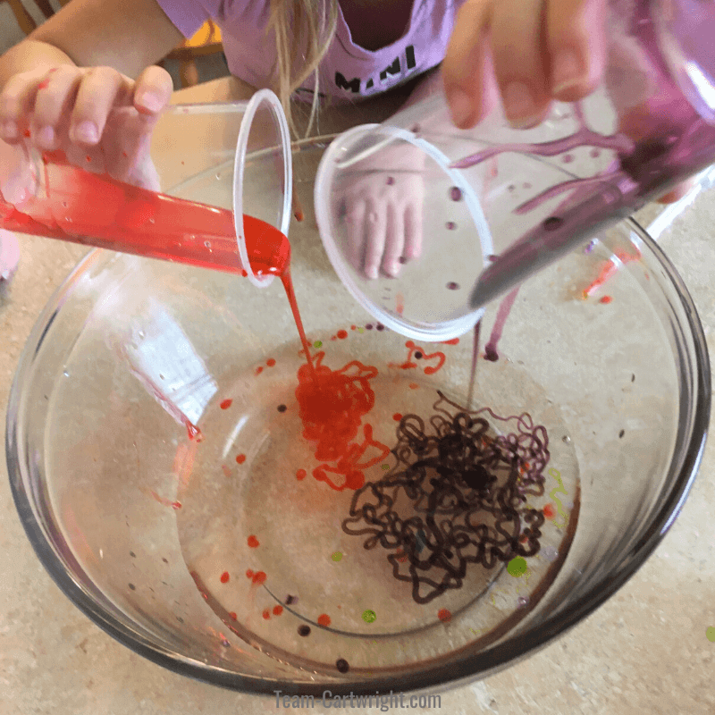Slime worm making